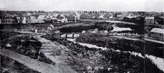 Market Place (later Victoria Square), Christchurch, 1862 : a panorama looking towards the north-east.
