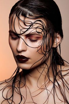 Hair art - this is amazing - I wouldn't wear it, but it is definitely interesting.