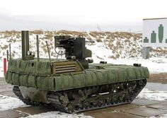 """Russian Battle Robots Near Testing For Military Use      """" Machine-gun wielding battle robots are going tobe tested inRussia's Astrakhan region foruse bythe countr..."""