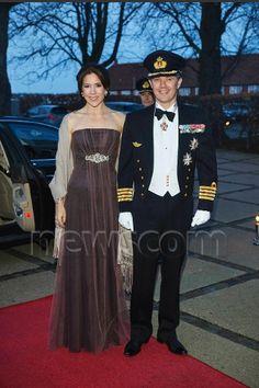 Crown Prince Frederik Crown Princess Mary navel cadet ball