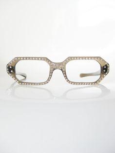 ba4d8b06dd Vintage Rhinestone French Eyeglass Frames 1950s by OliverandAlexa Four  Eyes