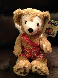 "Disney duffy Bear Be My Valentine Cupid Hidden Mickey 12"" Plush NEW #Disney"