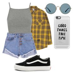 """""""Outfit 193"""" by semaapaydin on Polyvore featuring Topshop, Vans, Ray-Ban and Casetify"""