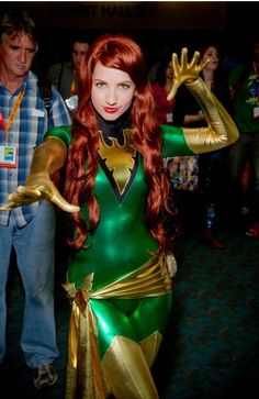 Marvel girl cosplay comic con