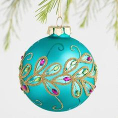 18 Light Up Peacock Christmas Decoration Glass Ball Peacock Ornaments Set of 3 by World Market Peacock Christmas Decorations, Peacock Christmas Tree, Peacock Ornaments, Unique Christmas Ornaments, Christmas Tree Themes, Handmade Decorations, Handmade Christmas, Christmas Bulbs, Ball Ornaments
