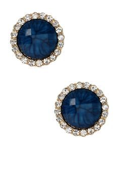 Gorgeous, Navy Earrings