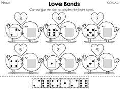 valentine 39 s day math worksheets kindergarten mostly kinder math math kindergarten math. Black Bedroom Furniture Sets. Home Design Ideas