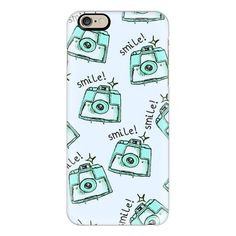 iPhone 6 Plus/6/5/5s/5c Case - Smile! Polaroids by Kamila Krol ($40) ❤ liked on Polyvore featuring accessories, tech accessories, iphone case, iphone cover case, apple iphone cases and slim iphone case