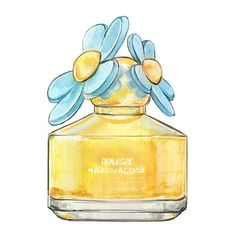 Watercolor Illustration Daisy Marc Jacobs by LadyGatsbyLuxePaper, $10.00