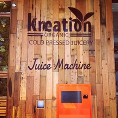 An ATM machine - for fresh juice! Only at Kreation in Beverly Hills