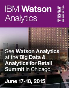 There's still time to register & get 20% off by using the IBM20 discount code.   Big Data & Analytics for Retail Summit brings together analytics executives and data scientists working in retail, eCommerce and consumer goods, offering unique insight into the innovations that are driving success in these industries. #DataRetail, #CustomerAnalytics, #WatsonAnalytics
