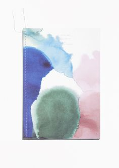 & Other Stories image 1 of Thread Binding A5 Notebook in Ink Blot Water Colours Print