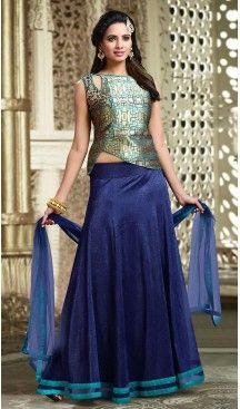 Navy #Blue Color #Lycra A Line Style #Readymade Lehenga | FH493675689 #heenastyle, #designer, #lehengas, #choli, #collection, #women, #online, #wedding , #Bollywood, #stylish, #indian, #party, #ghagra, #casual, #sangeet, #mehendi, #navratri, #fashion, #boutique, #mode, #henna, #wedding, #fashion-week, #ceremony, #receptions, #ring , #dupatta , #chunni , @heenastyle , #Circular , #engagement ,#treditional