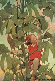 Jack and the Beanstalk, illustration by Jessie Wilcox Smith from 'A Child's Book of Stories'.  http://www.amazon.co.uk/gp/product/1473319293/ref=as_li_tl?ie=UTF8&camp=1634&creative=6738&creativeASIN=1473319293&linkCode=as2&tag=reaboo-21&linkId=QSSKLUOVKRMDGPR2