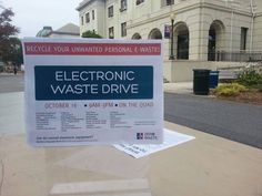 We had another successful electronic waste drive on the quad today. If you forgot to bring your electronics in today, no worries, we will be doing another collection in April. You can also email zerowaste@american.edu and we will try to accommodate as best as we can. Thank you everyone who participated today!