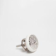Ceramic and Metal Knob (Set of 2) - Knobs - Decor and pillows | Zara Home Canada
