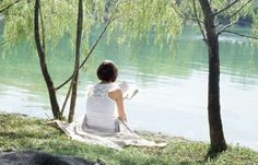 Sometimes it's just nice to sit in the sun by the lake and relax for a while or read a book..