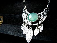 Persephone  sterling silver necklace by sirenjewels on Etsy, $125.00