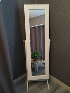 Miroir psyché armoire rangement pour bijoux