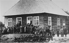 I admit, I am delaying beginning it: Night - by Elie Wiesel (Prewar group portrait in front of a synagogue in the Transylvanian town of Sighet)