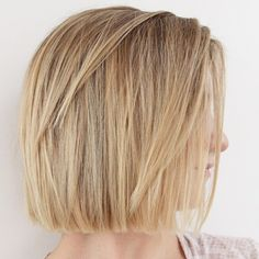 Chic Gray Blunt Haircut - 50 Spectacular Blunt Bob Hairstyles - The Trending Hairstyle Short Layered Haircuts, Short Hair Cuts, Short Hair Styles, Pixie Cuts, Straight Haircuts, Straight Cut Bob, Layered Bobs, Medium Layered, Pixie Bob
