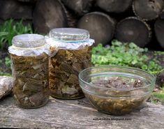 Erdőkóstoló: Gombatartósítás 5. Mezei szegfűgomba konzerv és szegfűgomba leveskonzerv készítése Pesto, Mason Jars, Stuffed Mushrooms, Vegetables, Food, Stuff Mushrooms, Meal, Eten, Vegetable Recipes