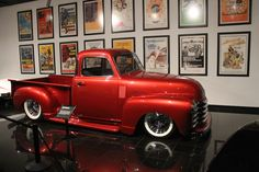 Before the Petersen Automotive Museum closed for renovations, we spotted the beautiful red 1951 Chevy truck belonging to rock drummer, Travis Barker. Watch this video to see one of the cleanest Chevy trucks around.