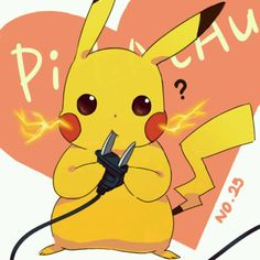 Pikachu! AWWWWW!!! Pikachu Art, Cute Pikachu, Cute Pokemon, Pokemon Gijinka, Pokemon Fan, Manga, Pokemon Starters, First Pokemon, Kino Film