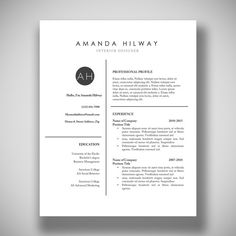 Best Free Professional Cv Resume Template    Best Free