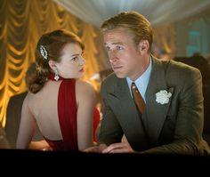 """Emma Stone y Ryan Gosling en """"Gangster Squad"""", 2012"""