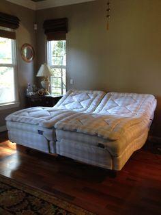 Hastens Comfortable II Adjustable Bed... glad to be home in Santa Cruz, CA! www.hastensnortherncalifornia.com