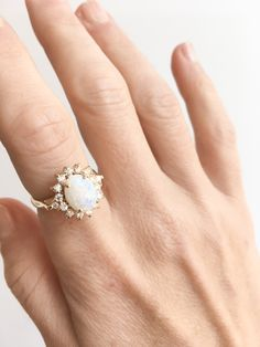 3e759a4bc This lovely opal ring was made in our own workroom. Although delicate and  feminine in