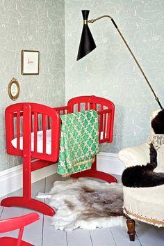 Modern nursery #nursery #decor red nursery ideas