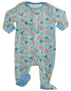 365ec2a0470a1 Leveret Little Baby Boys Fleece Footed Sleeper Pajama Ons... https