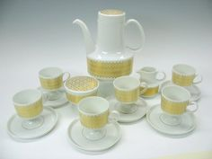 Rosenthal Studio line Composition mid century modern coffee set by Tapio Wirkkala