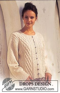 DROPS Cardigan in Safran DROPS Shafran = Himalaya Perlina mini = Yarn Art Jeans
