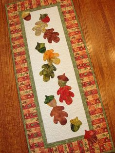 Autumn Fall Quilted Wall Hanging or Table Runner by susiquilts