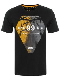 t-shirt krótki rękaw męski z nadrukiem szary - SPO2581 TOP SECRET