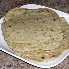 Homemade Spelt Flour Tortillas Recipe #vegan #bread #recipe