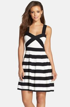 Trina+Turk+'Envy'+Stripe+Sweater+Dress+available+at+#Nordstrom
