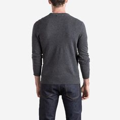 The Men's Cashmere Crew - Dark Grey