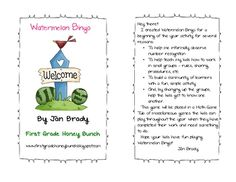 Watermelon Bingo is a great beginning of the year activity for early elementary students.  This activity provides informal observation of number re...