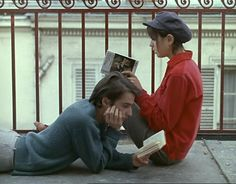 Jean-Pierre Leaud and Juliet Berto reading books
