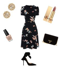 """""""❤️From Paris with love❤️"""" by dalessioanna on Polyvore featuring moda, Grace Lee Designs, Gianvito Rossi, Yves Saint Laurent, OPI e Prada"""