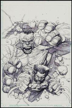 Ultimate Wolverine vs Hulk cover by Leinil Yu Comic Art Comic Book Artists, Comic Book Characters, Comic Artist, Comic Books Art, Marvel Comic Universe, Marvel Comics, Hulk Marvel, Avengers, Reference Manga