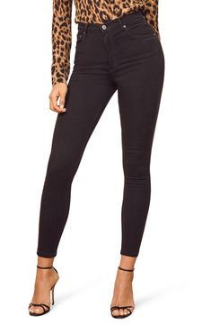 ce0f7fb83389b Free shipping and returns on Reformation High & Skinny Crop Jeans  (Catalina Destroyed)