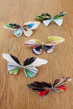 Bastelideen mit Papier: Falter falten – Papierschmetterlinge für den Sommer