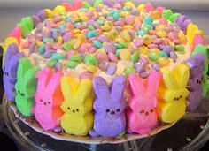 Easter Cake - Take a cake and cover it with more candy and sugar.
