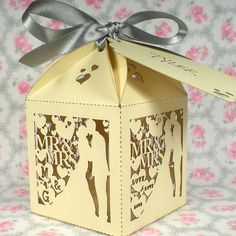 20 x personalisierten Hochzeit gefallenBoxen  von TheCrossEyedFox, £20.00