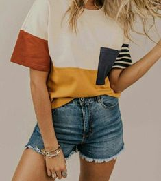 pinterest & insta ↠ @missmegs0802 New Outfits, School Outfits, Casual Summer Outfits Shorts, Everyday Outfits, Fashion Outfits, Spring Outfits Women, Womens Fashion, Fashionable Outfits, Aesthetic Clothes